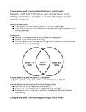5th Grade Comparing and Contrasting Settings and Events 1 Page Notes