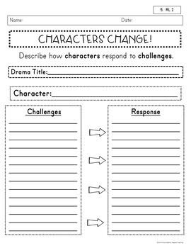 5th Grade Comprehension Sheets~Anytime, Any Book, RL and RI CCSS