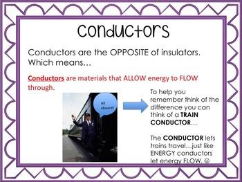 5th Grade Conductors and Insulators Powerpoint (TEK 5.5A)