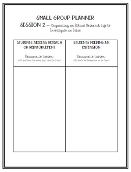 5th Grade Conferring Plans and Small Group Planner: Argument and Advocacy