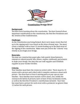 5th Grade Constitution Day Design Brief