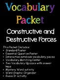 5th Grade Constructive and Destructive Forces Vocabulary Packet