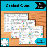 5th Grade Context Clues- Task  Cards