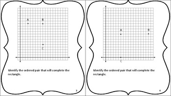 5th Grade Coordinate Geometry Task Cards