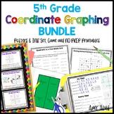 5th Grade Coordinate Graphing Bundle Poster INB Game NO PR