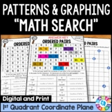 5th Grade Coordinate Plane Graphing & Patterns Math Search {5.G.1, 5.G.2, 5.OA.3