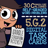 5th Grade Coordinate Plane Task Cards ★ Google Classroom Math Activity 5.G.2