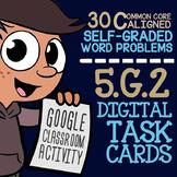 5th Grade Coordinate Plane Task Cards ★ Google Classroom Math Activity 5.G.2