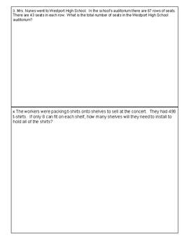 5th Grade Cumulative Math Review: Relay Race #2