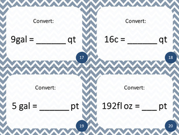 5th Grade Customary Units of Measurement Task Cards | Includes Digital Quiz
