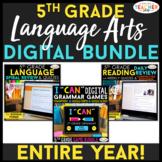 5th Grade DIGITAL Language Arts BUNDLE   Google Classroom