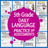 """5th Grade LANGUAGE Daily Practice (""""I Can"""" ELA Posters + 5"""
