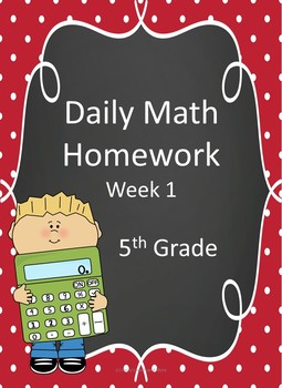 5th Grade Daily Math Homework