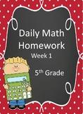 5th Grade Daily Math Homework