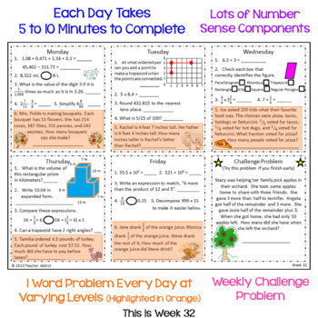 5th Grade Daily Math Morning Work - 4th Quarter