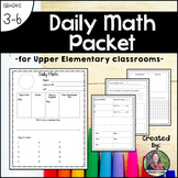 Daily Math Packet for Upper Elementary