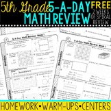 5th Grade Daily Math Spiral Review - Two Weeks Free