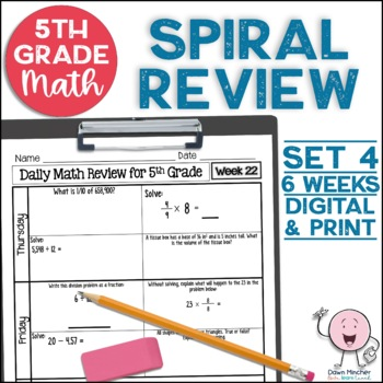 5th Grade Morning Work | 5th Grade Spiral Math Review | Set 4 (6 weeks)