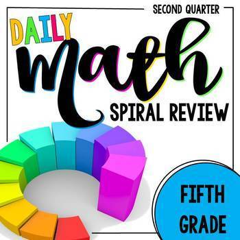 5th Grade Daily Math Spiral Review - Morning Work for Weeks 10-18