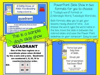 Geometry Poster Set  5th Grade Geometry Word Wall Plus PowerPoint Slides