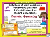 Geometry Poster Set  5th Grade Geometry Word Wall Plus PowerPoint Slides