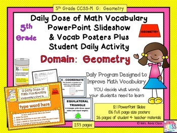 Geometry Poster Set  5th Grade Geometry Word Wall Plus Pow