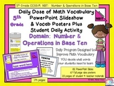 NUMBER & OPERATIONS BASE TEN Math Word Wall and PPT Slides
