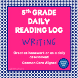 5th Grade Daily Reading Log - Writing