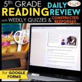 5th Grade Reading Spiral Review DIGITAL Google Classroom |
