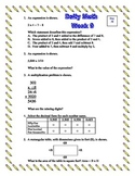 5th Grade Daily/Morning Math - Week 9 - 5 Standards