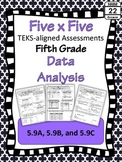 5th Grade Math TEKS Data Analysis Assessments
