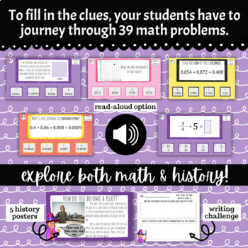 5th Grade December Math Adventure- The Case of the Phony Pilot