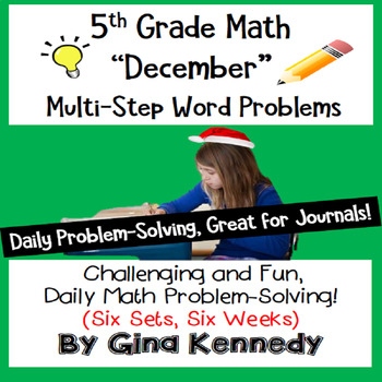 Daily Problem Solving for 5th Grade: December Word Problem