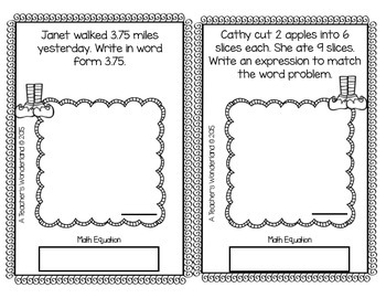 5th Grade December Word Problem Journals