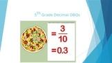 5th Grade Decimal DBQs