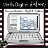 5th Grade Decimal Division Digital Station - Distance Learning