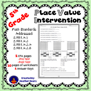 5th Grade Decimal Place Value