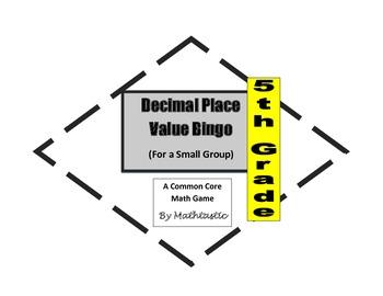 5th grade decimal place val by mathtastic teachers pay teachers. Black Bedroom Furniture Sets. Home Design Ideas