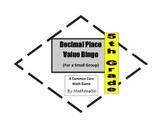 5th Grade Decimal Place Value Bingo Game for Common Core