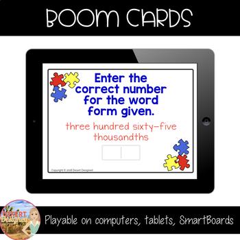 5th Grade Decimal Place Value - Boom Cards