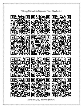 5th Grade Decimal Place Value QR Codes - 5.NBT.3 & 5.NBT.4