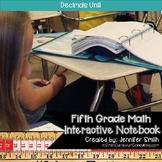 Fifth Grade Math Decimals Interactive Notebook