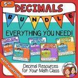 5th Grade Decimals Place Value, Rounding, Comparing, Multi