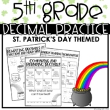 5th Grade Decimals | St. Patrick's Day