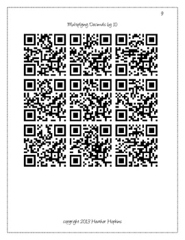 5th Grade Decimals with Zero Patterns QR Codes - 5.NBT.2, 5.NBT.4, & 5.NBT.7