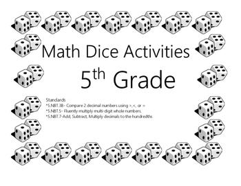5th Grade Dice Activities