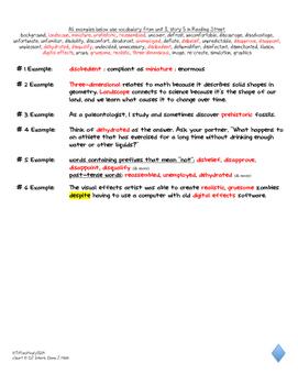 5th Grade Differentiated Vocabulary Response Boards