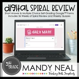 5th Grade Digital Daily Math Spiral Review | Distance Learning