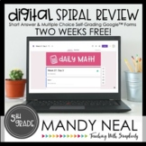5th Grade Digital Daily Math Spiral Review | Distance Lear