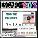 5th Grade Digital Escape Room Math Review or 6th grade Back to School Activity